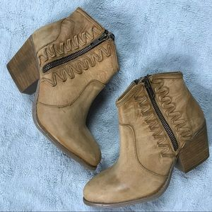 Coolway Athya Leather Western Ankle Boot Bootie